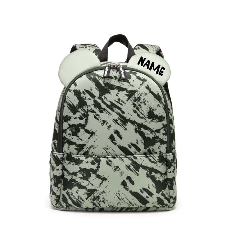 Backpack Bear Green Distress met naam