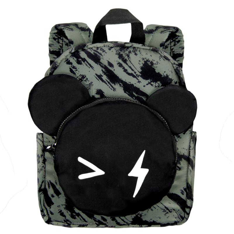 Backpack Bear Green Distress Big