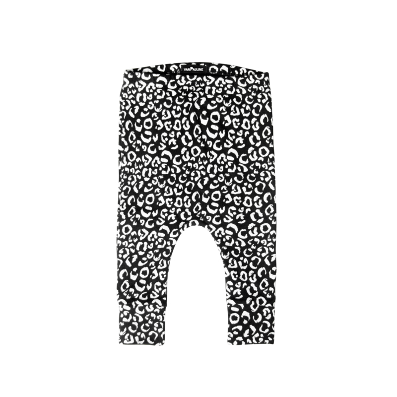 LEOPARD PANTS BLACK