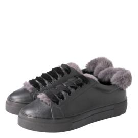 YAYA Leather Sneakers met Teddy Details