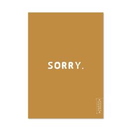 Zusss Kaart 'Sorry'