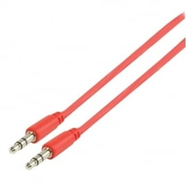 MS Slim 3.5mm stereo audio cable red 100cm