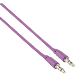 MS Slim 3.5mm stereo audio cable purple100cm