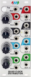 4ms Quad Clock Distributor -Rev 2 (QCD)