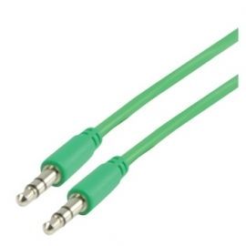 MS Slim 3.5mm stereo audio cable green 100cm