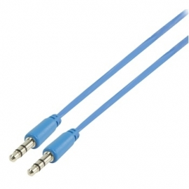 MS Slim 3.5mm stereo audio cable blue 100cm