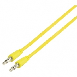 MS Slim 3.5mm stereo audio cable yellow 100cm