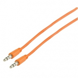 MS Slim 3.5mm stereo audio cable orange 100cm