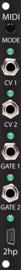 2hp - MIDI black