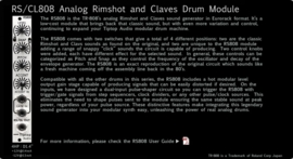 Tiptop Audio RS808 TR808 Rimshot/Clavs Generator