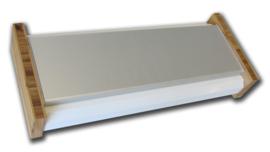 MS-84WB 84HP Skiff white + Bamboo  (eurorack case)