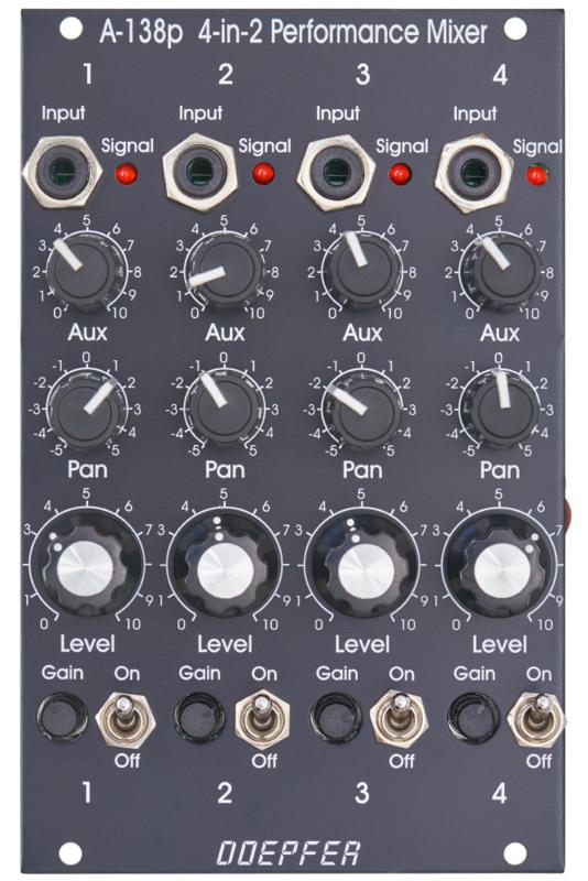 Doepfer A-138pv Performance mixer (black vintage)