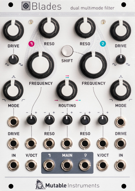 Mutable Instruments Blades (Dual multimode filter)