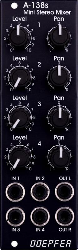 Doepfer A-138sv Mini Stereo Mixer