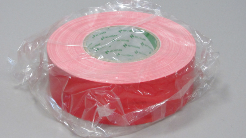 Nichiban gaffer tape 50mm*50m rood / red, 1x rol