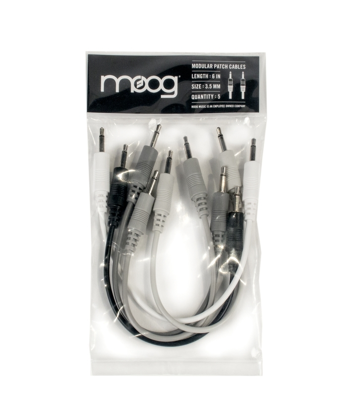 Moog Music Mother-32 Patch Cables - 5 pack - 6 Inch