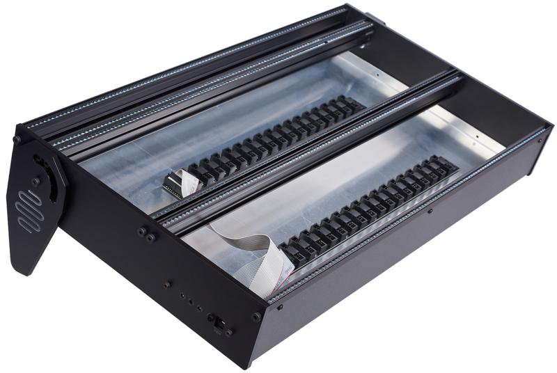 eowave 7U Black 2 x 104 HP incl. PSU  (erurorack case)