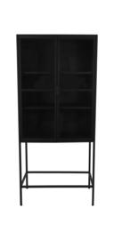 Vitrinekast Manhattan 2 deurs - 80x180 - metaal/glas