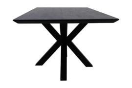 Rechthoekige eettafel Zurich- 180x90x75,8 - Zwart - Acaciahout/metaal