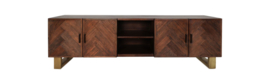 TV meubel Oxford - 200 cm - Antiekbruin mozaiek