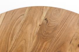 Eettafel rond - ø120x77 - Naturel/zwart - Acaciahout/metaal