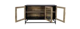 Dressoir Dublin - 140x40x80 - Naturel/zwart - Mangohout/ijzer