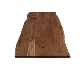 Eettafel live edge - 160x90x75 - Naturel/zwart - Acaciahout/metaal
