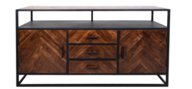 Sideboard Saint-Maxime 2-deurs - 160cm - Acaciahout/ijzer