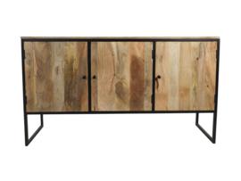 Dressoir Dublin - 150x40x85 - Naturel/zwart - Mangohout/ijzer