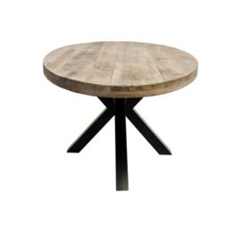 Ovale eettafel Portland - 180x100 cm - mangohout/ijzer