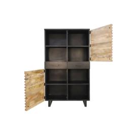 Wandkast Lille - acaciahout/ijzer