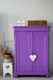 """Brocante Biedermeier kast """"Royal Purple"""""""