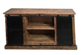 Sideboard Melbourne - 140 cm - rustiek mangohout/ijzer