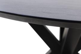Ronde eettafel Zurich - ø130 cm - zwart - swiss edge - acaciahout eettafel Zurich - ø130 cm - zwart - swiss edge - acaciahout