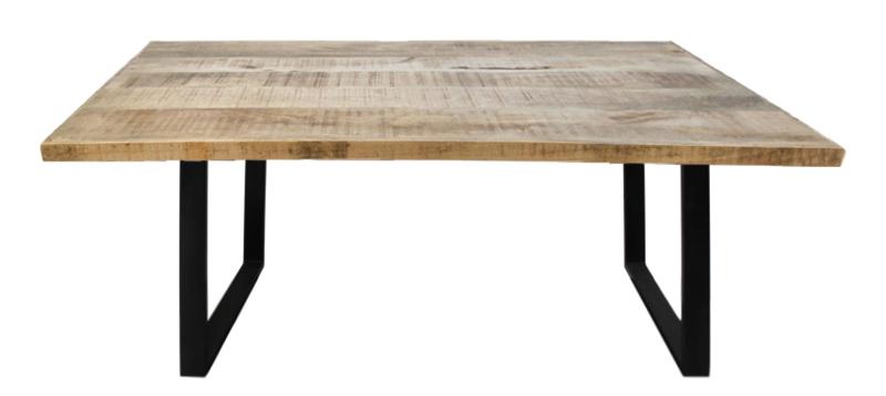 Rechthoekige eettafel - 160x90x76 - naturel - mangohout/metaal