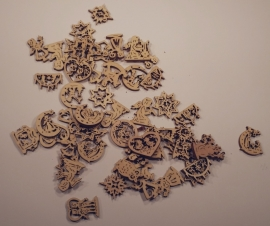 Diverse figuren, 4,5 cm
