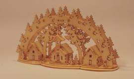 3D Lichtboog met dorp, LB242