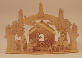 3D Lichtboog met kerststal, LB225