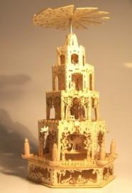 Piramide met 4 etages, 6 hoekig, P95a