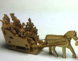 Kerstman slee met paard