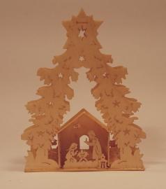 Boom met kerststal, LB247