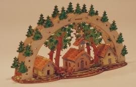 3D Lichtboog met dorp