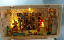 Kerst kamer met verlichting