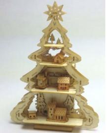 Kerstboom met gebouwen