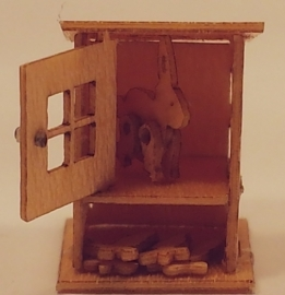 Konijnenhok met 2 konijnen, M93