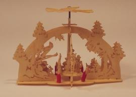 3D Lichtboog skispringer met pyramide, LB235