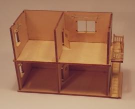 Poppenhuis 2 etages met trap, H12