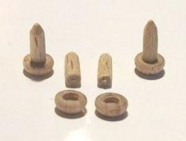 4 Houten kaarsen, Z02