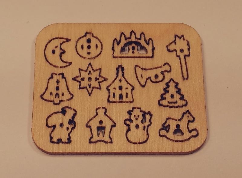 Steekpuzzel kerstfiguren, PU13
