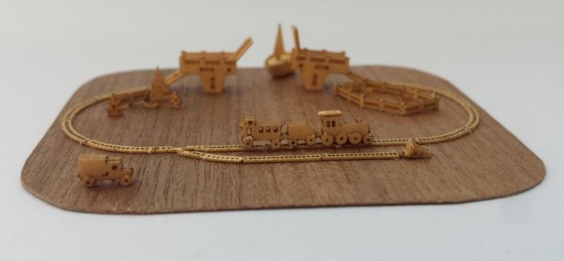 Treinbaan met brug, M135